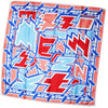 Kenzo Scarf Pink Royal Blue Design - Large Silk Square Scarf