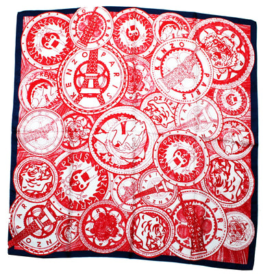 Kenzo Scarf Red White