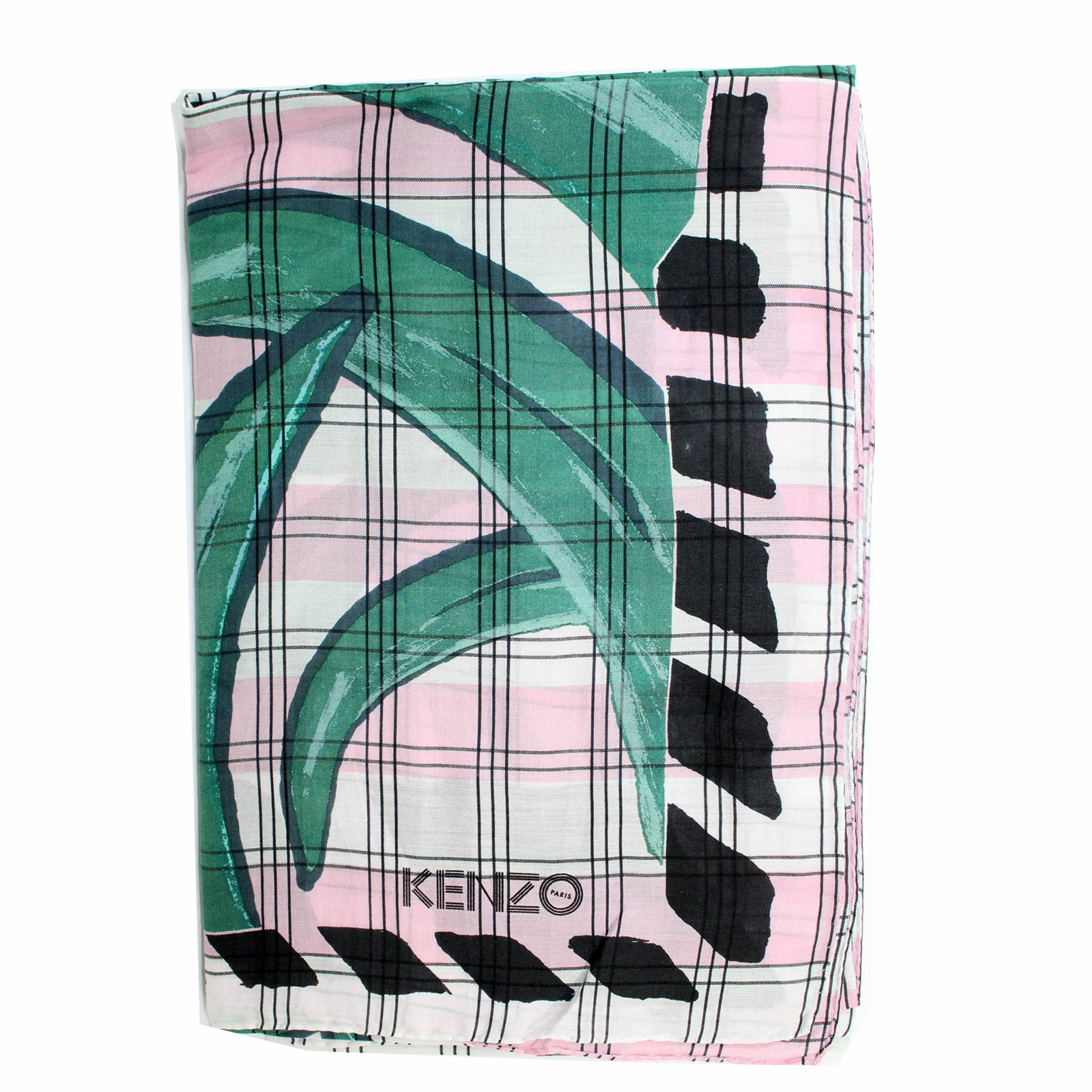 Kenzo Scarf Green Pink