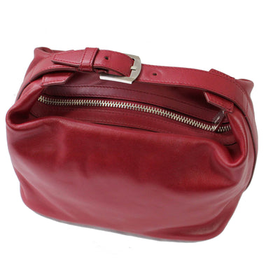 Kiton Purse Red Leather Handbag New