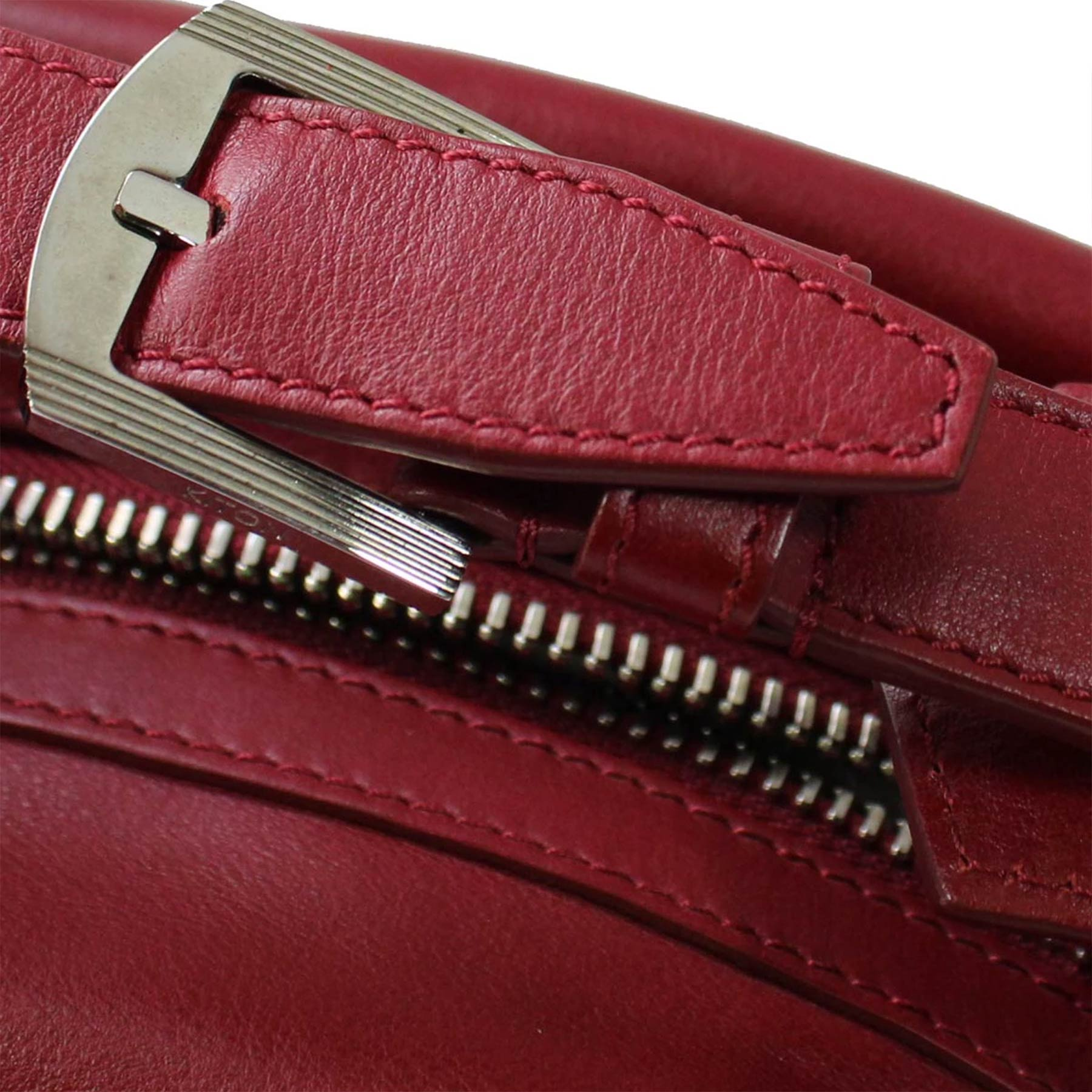 Kiton Purse Red Leather Handbag