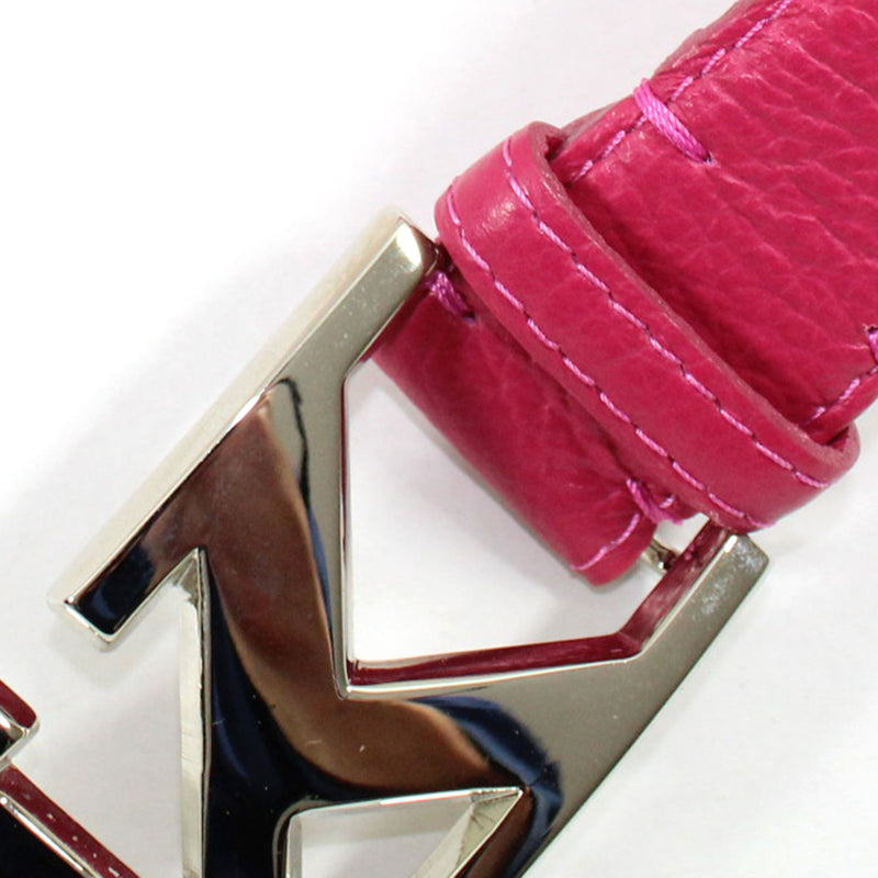 Kiton Women Belt Fuchsia-Pink Leather Belt