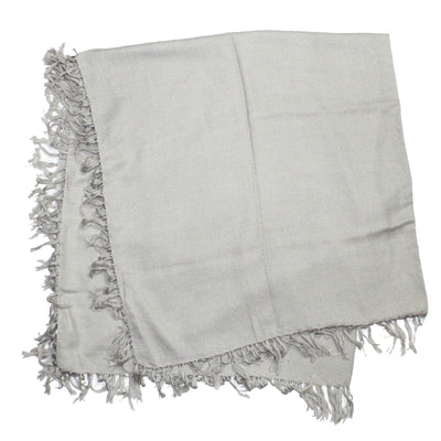 Kiton Cashmere Scarf Light Gray women