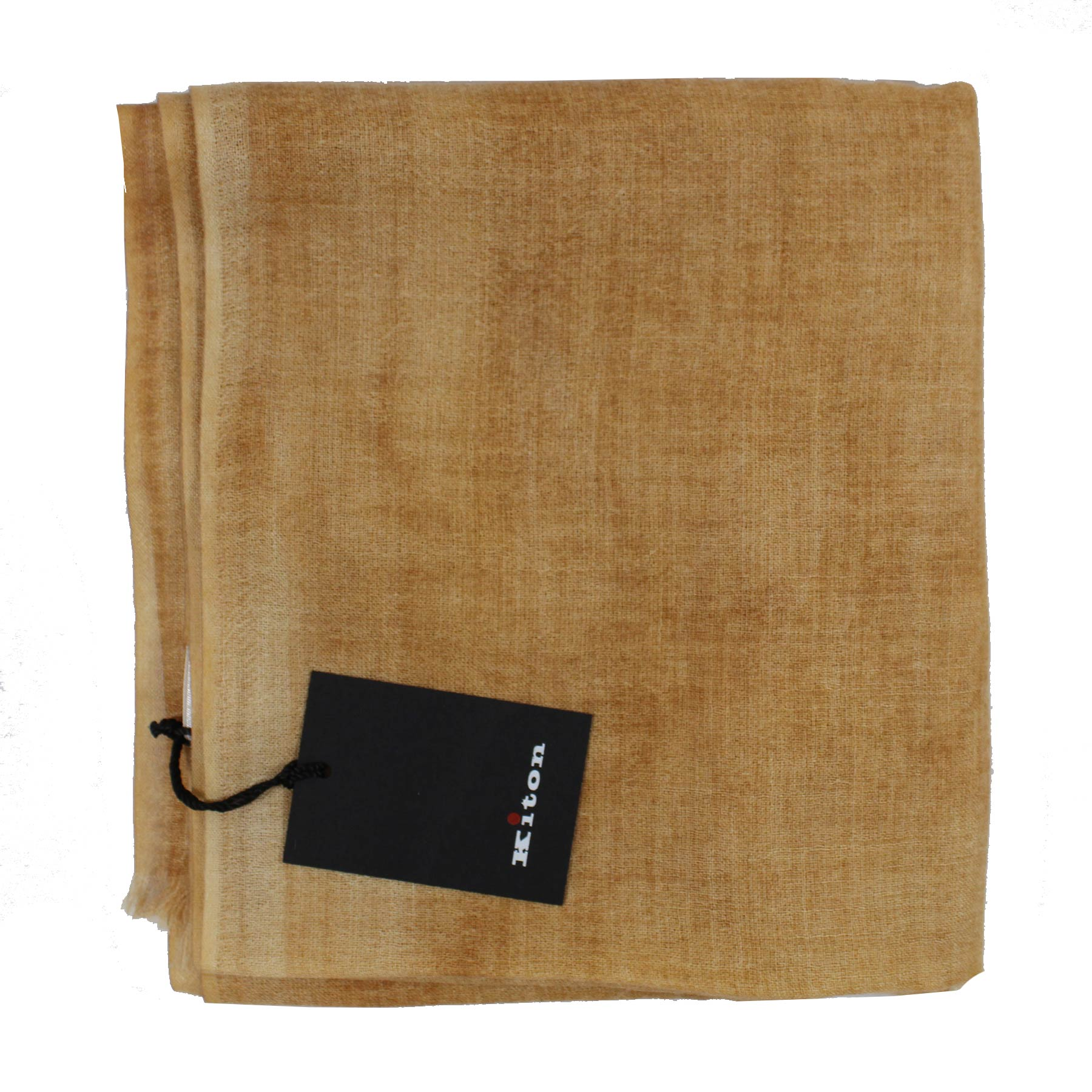 Kiton Scarf Beige Brown Design - Cashmere Silk Women Shawl