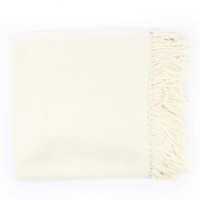 Kiton Cashmere Silk Scarf White New