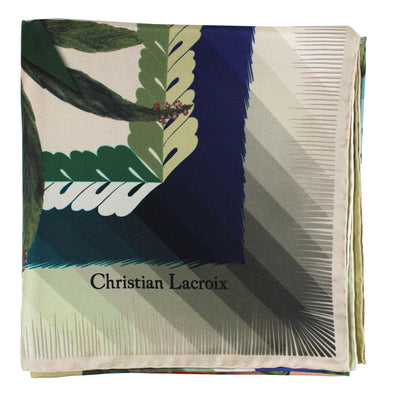 Christian Lacroix Scarf Sage Green Design New