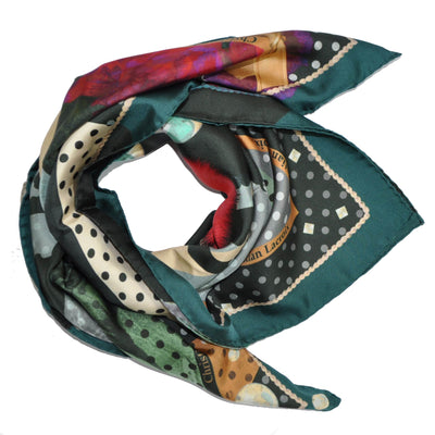 Christian Lacroix Scarf Signature & Polka Dots - Large Silk Square Scarf