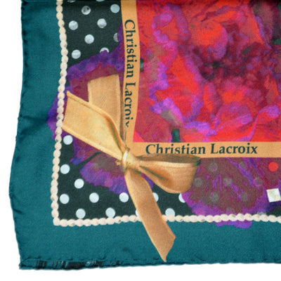 Christian Lacroix Scarf Polka Dots - Large Silk Square Scarf
