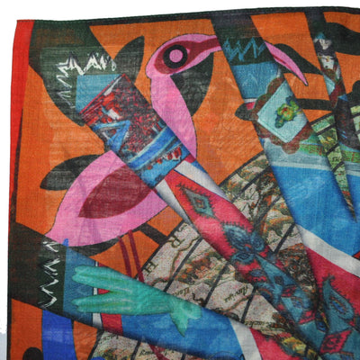 Christian Lacroix Scarf Signature Design - Extra Large Wool Silk Square Scarf