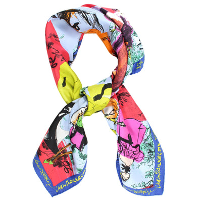 Christian Lacroix Scarf '20 Ans' Design - Large Twill Silk Square Scarf