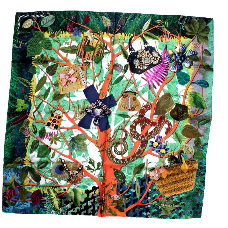 Christian Lacroix Scarf Original Print - Large Twill Silk Square Scarf