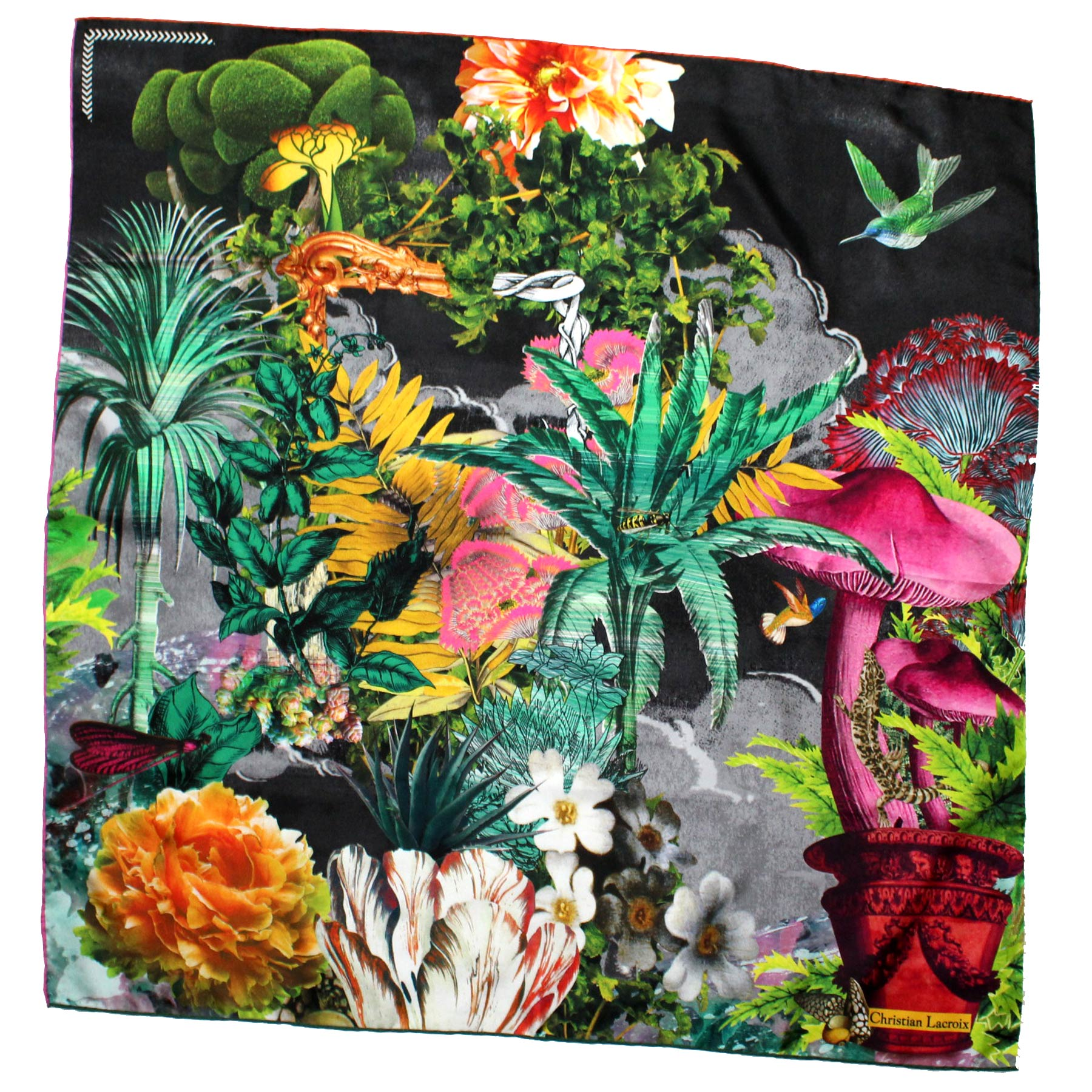 Christian Lacroix Scarf Colorful Garden Design