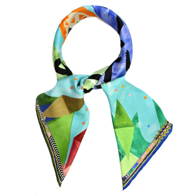 Christian Lacroix Scarf Love Kiss Amour - Large Silk Square Foulard