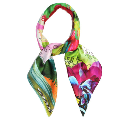 Christian Lacroix Silk Scarf Love One Love Two - Large Twill Silk Square Scarf