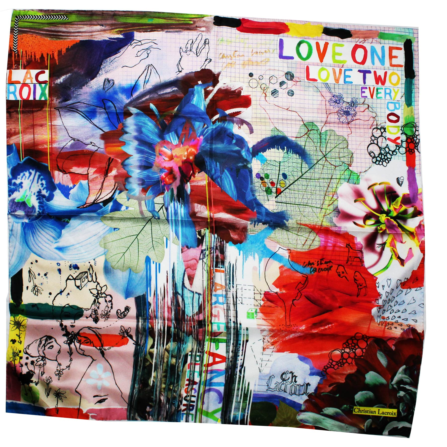 Lacroix Silk Scarf Signature Design