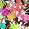 Christian Lacroix Scarf Original Pink Green Design - Large Twill Silk Square Scarf SALE