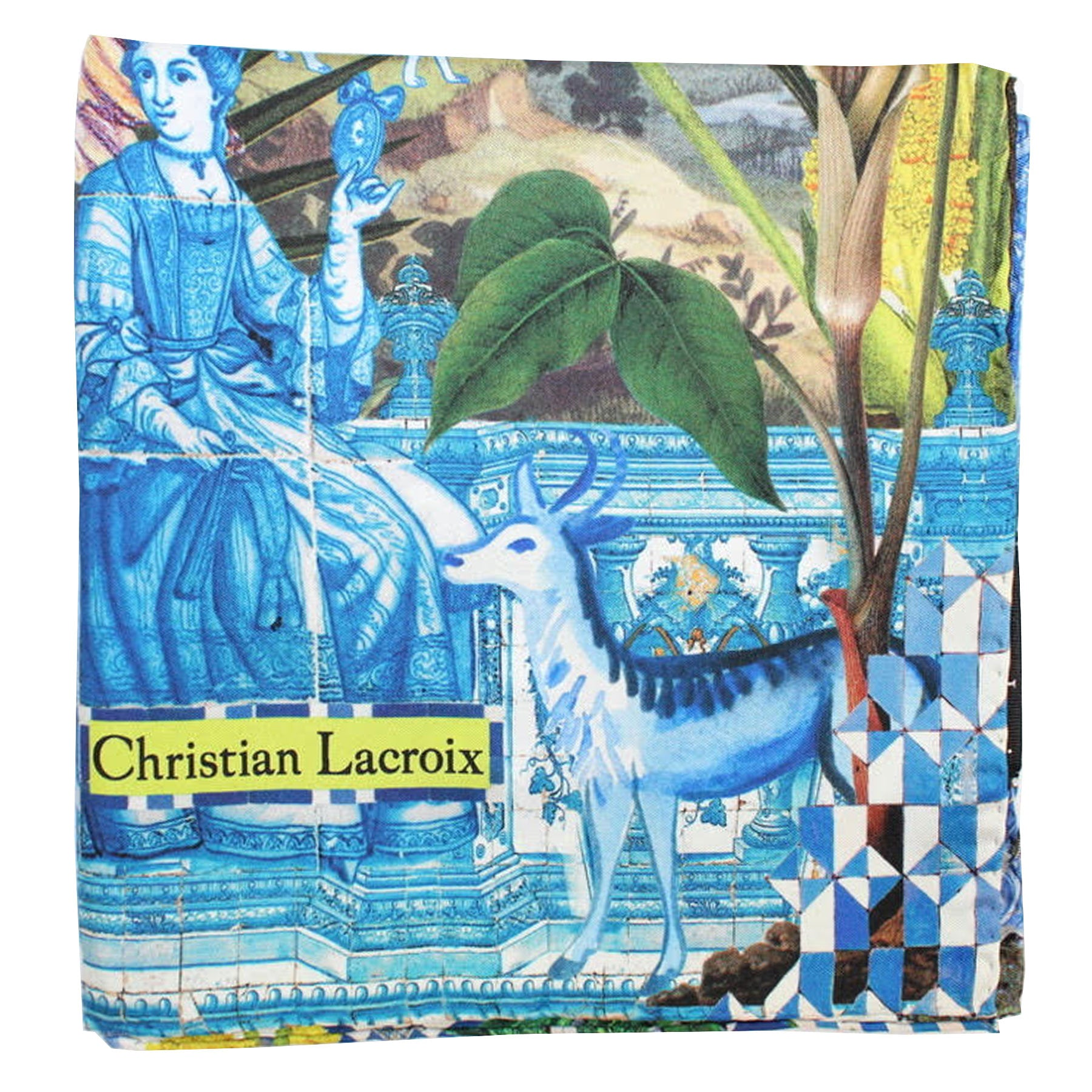 Christian Lacroix Scarf Blue Design