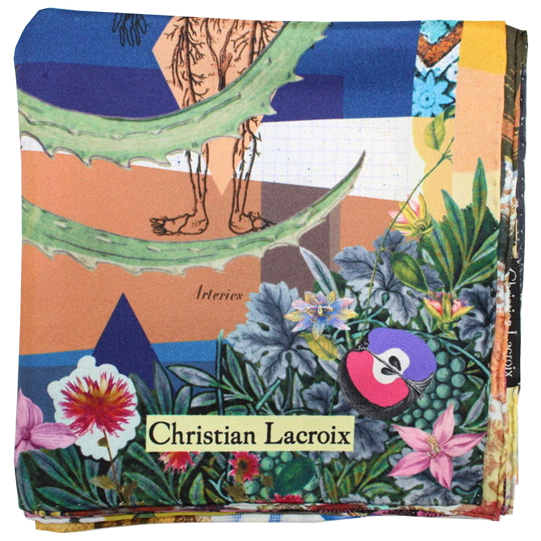 Christian Lacroix Scarf Arteries design - Large Twill Silk Square Scarf