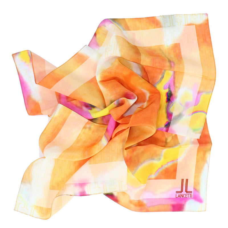 Lancetti Small Silk Scarf Made In Italy SALE