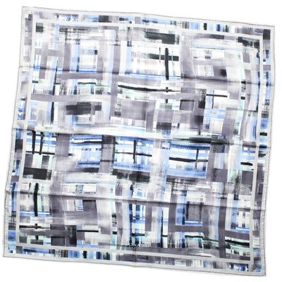 Leonard Paris Scarf Gray Design - Twill Silk Large Square Scarf SALE
