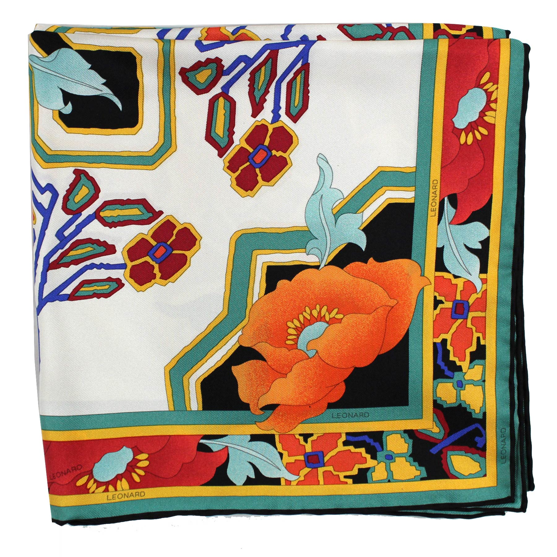 Leonard Paris Scarf - Twill Silk Large Square Scarf