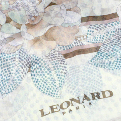 Leonard Paris Scarf Cream Floral Design