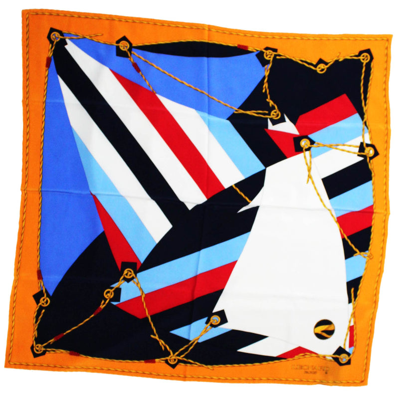 Leonard Scarf Orange Navy Red Nautical