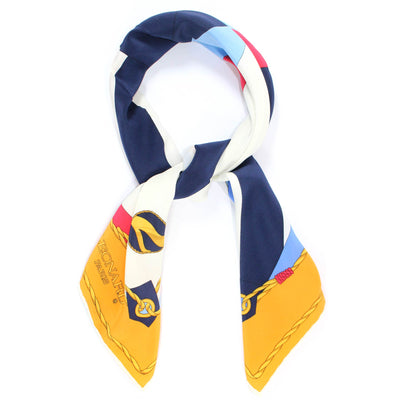 Leonard Paris Scarf Orange Navy