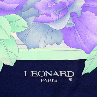 Leonard Scarf Lilac Mint Green Large Square Silk Scarf