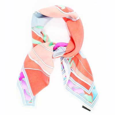 Leonard Paris Scarf Gray Lilac Orange Pink
