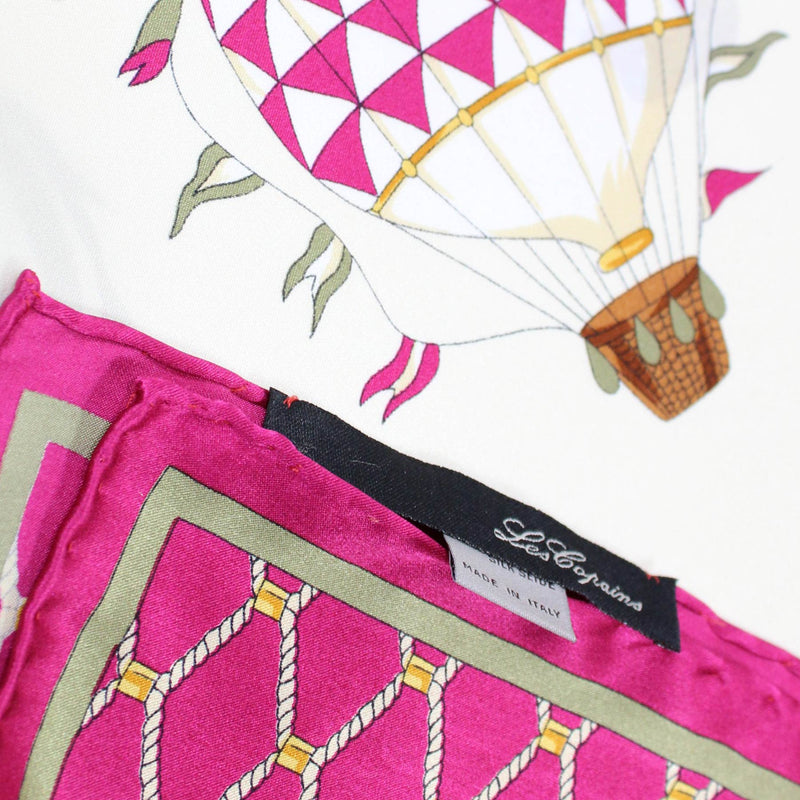 Les Copains Scarf Magenta Hot Air Balloon Design