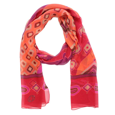 LL Scarf Red Pink Maroon Paisley FINAL SALE