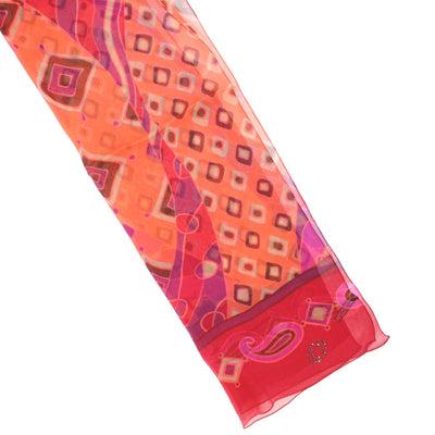 LL Scarf Red Pink Maroon Paisley