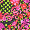 Lime Polka Dots Pink Red Floral