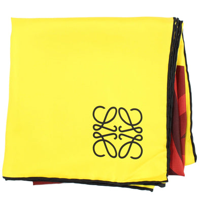 Loewe Madrid Scarf Yellow Flower - Large Twill Silk Square Scarf