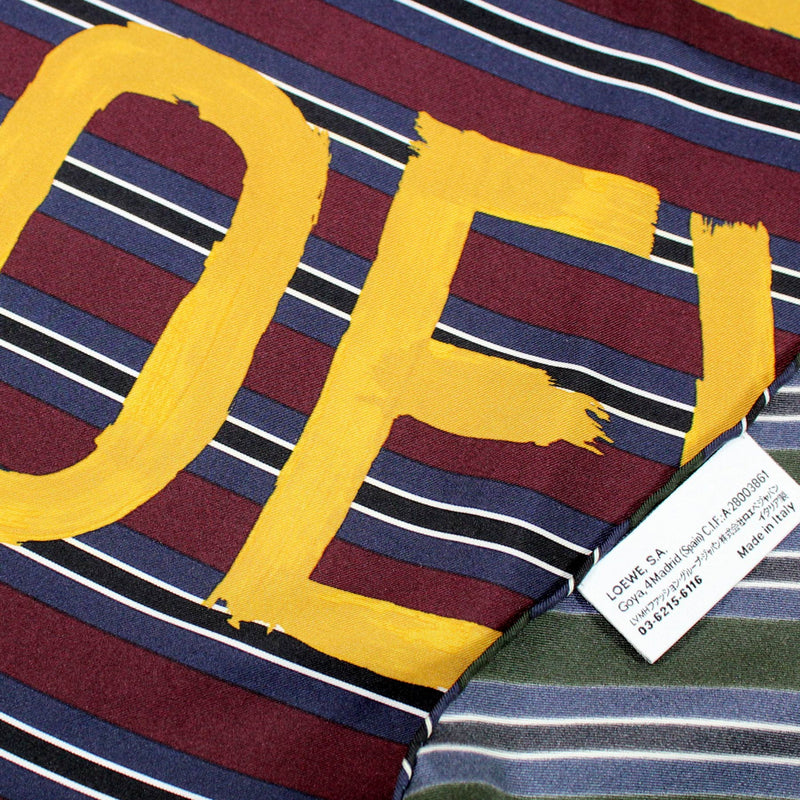 Loewe Scarf Dark Green Midnight Blue Maroon