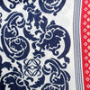 Loewe Scarf White Lapis Blue Red Paisley & Stripes