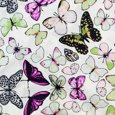 Loewe Scarf Butterflies - Large Twill Silk Square Scarf