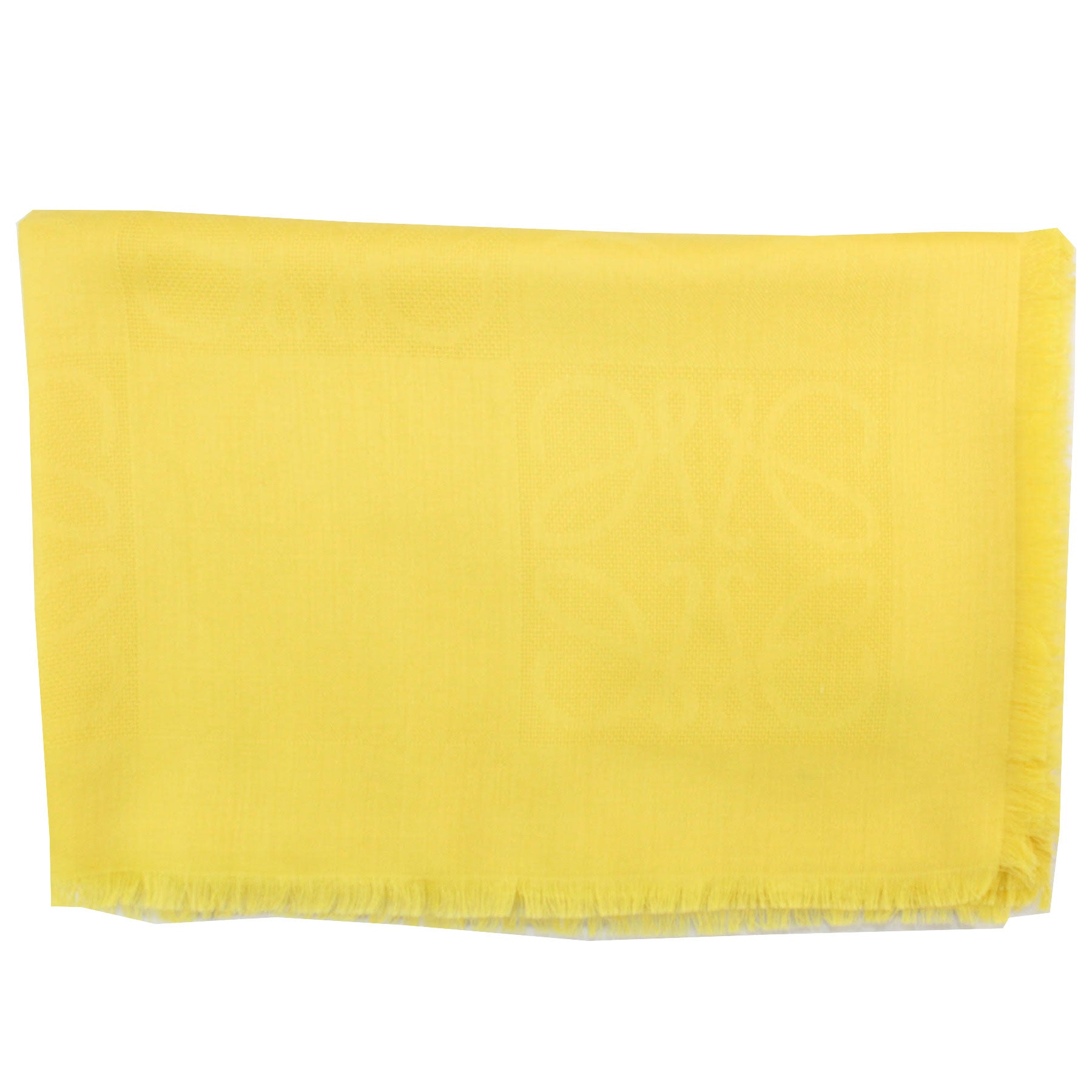 Loewe Silk Scarf Yellow Solid Wosica Design - Large Square Scarf