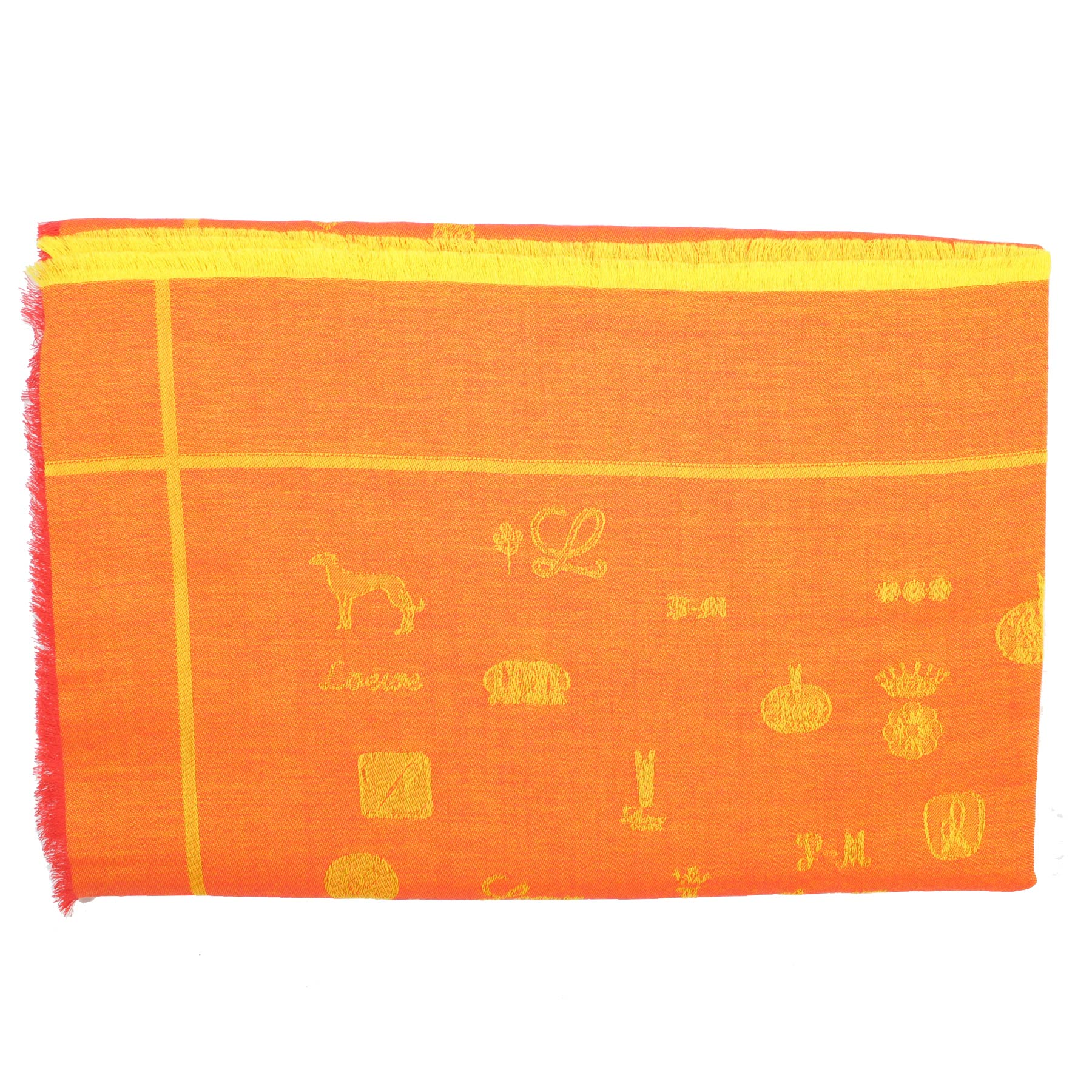 Loewe Scarf Orange Yellow Novelty -