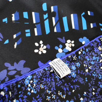 Longchamp Scarf Royal Blue Purple Floral