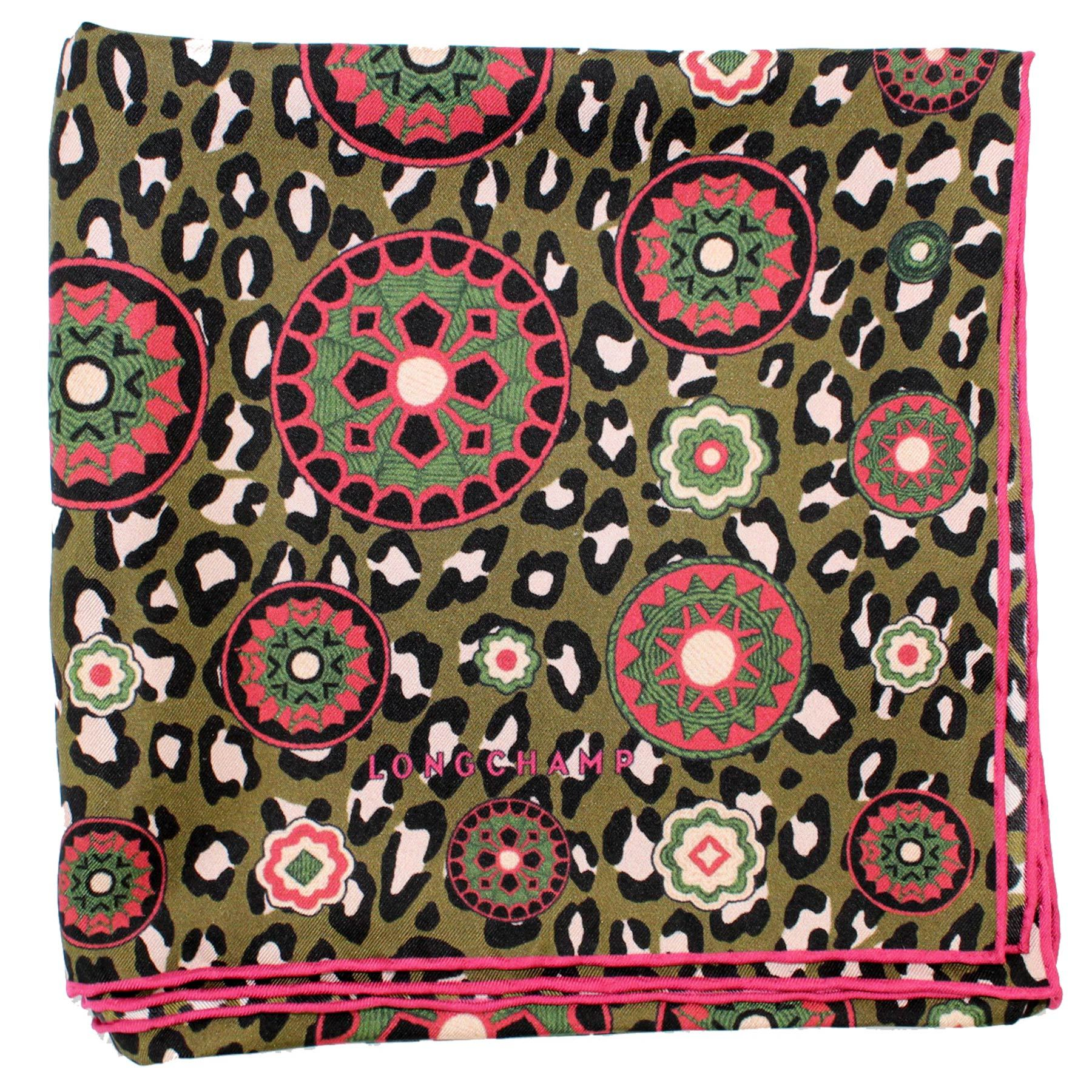 Longchamp Scarf Forest Green