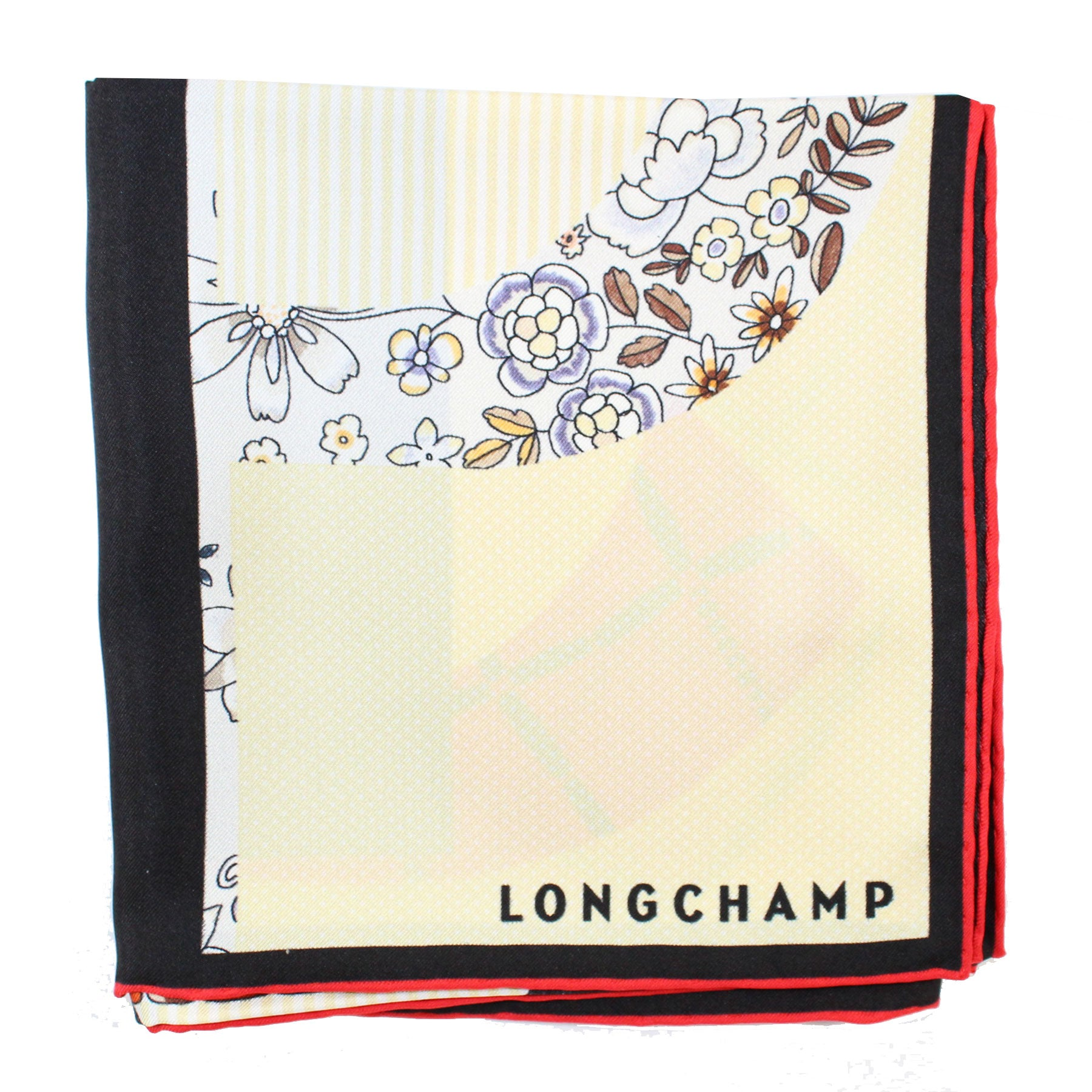 Longchamp Scarf Yellow Logo