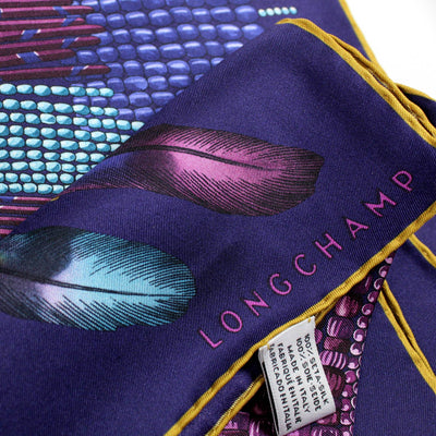 Longchamp Scarf Purple COLLIER MASSAÏ Design