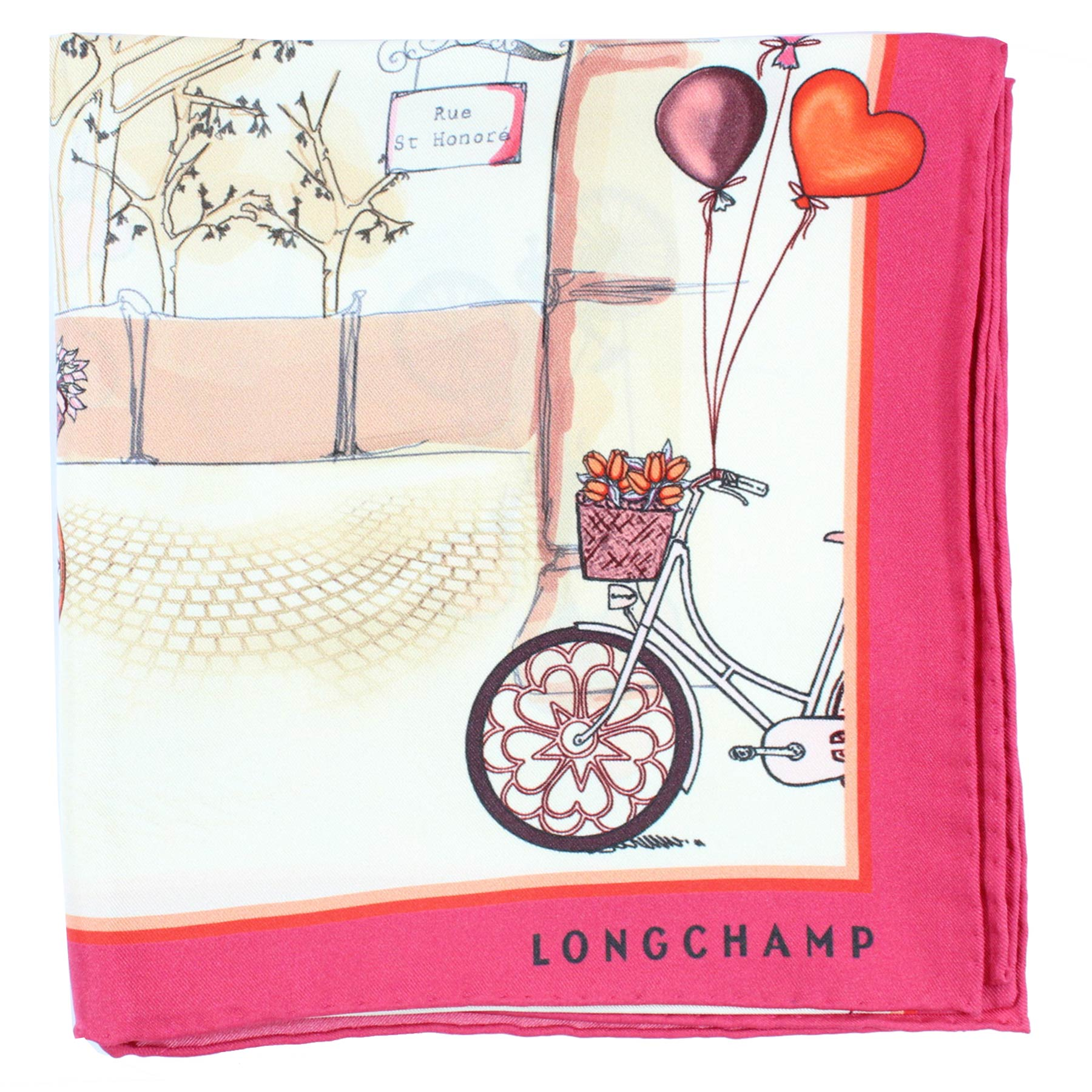 Longchamp Scarf Fuchsia Red Bike
