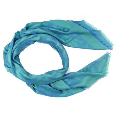 Mantero Wool Silk Scarf Blue - Extra  Large Wrap Women Collection