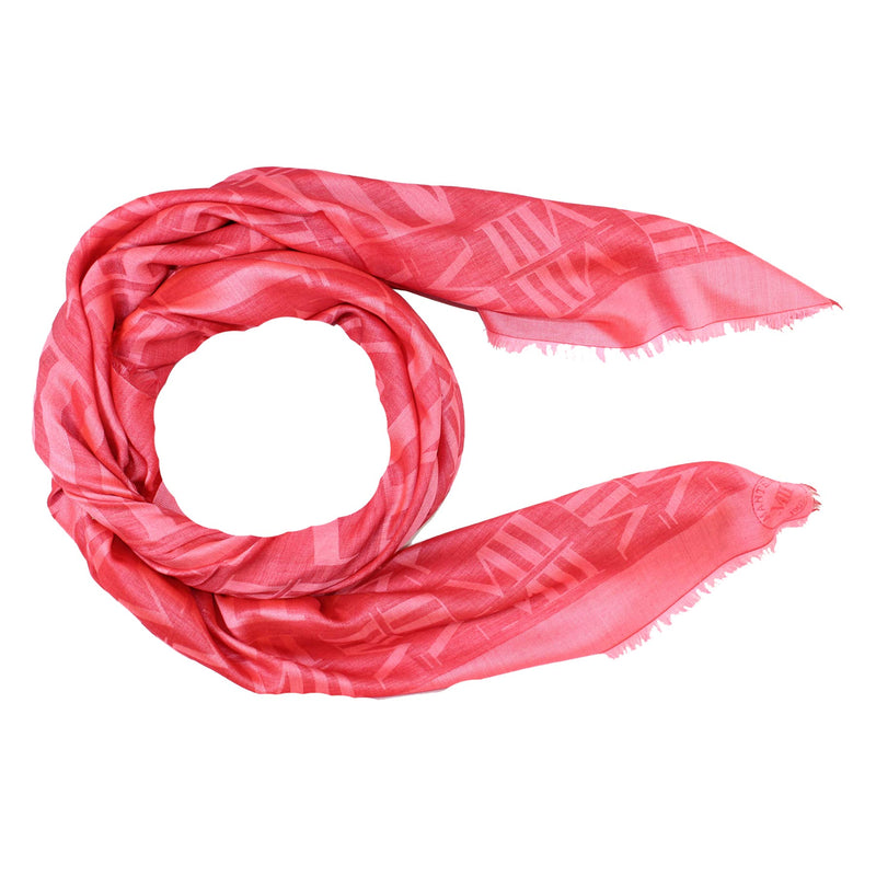 Mantero Wool Silk Scarf Pink  New