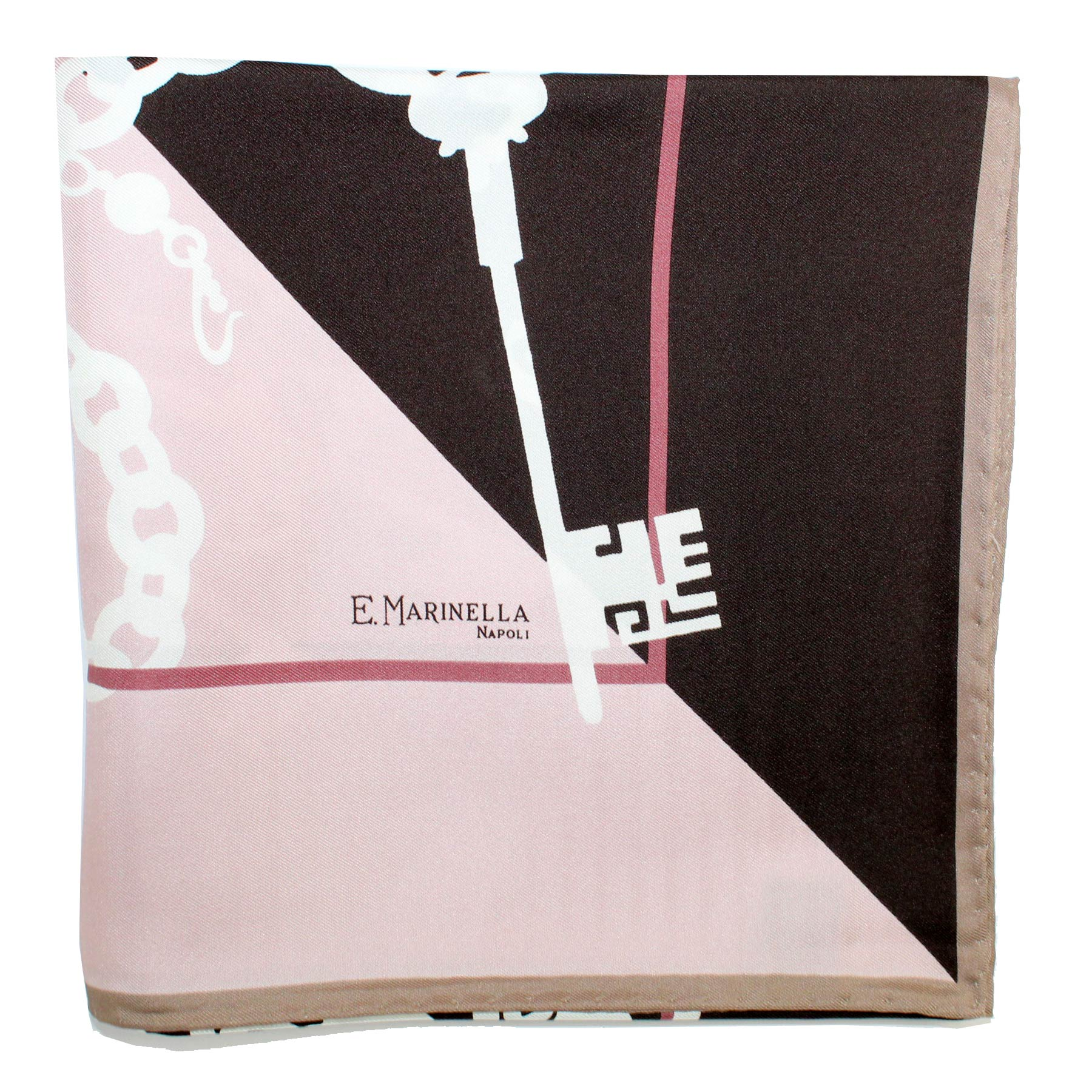 Marinella Scarf Brown Pink Key