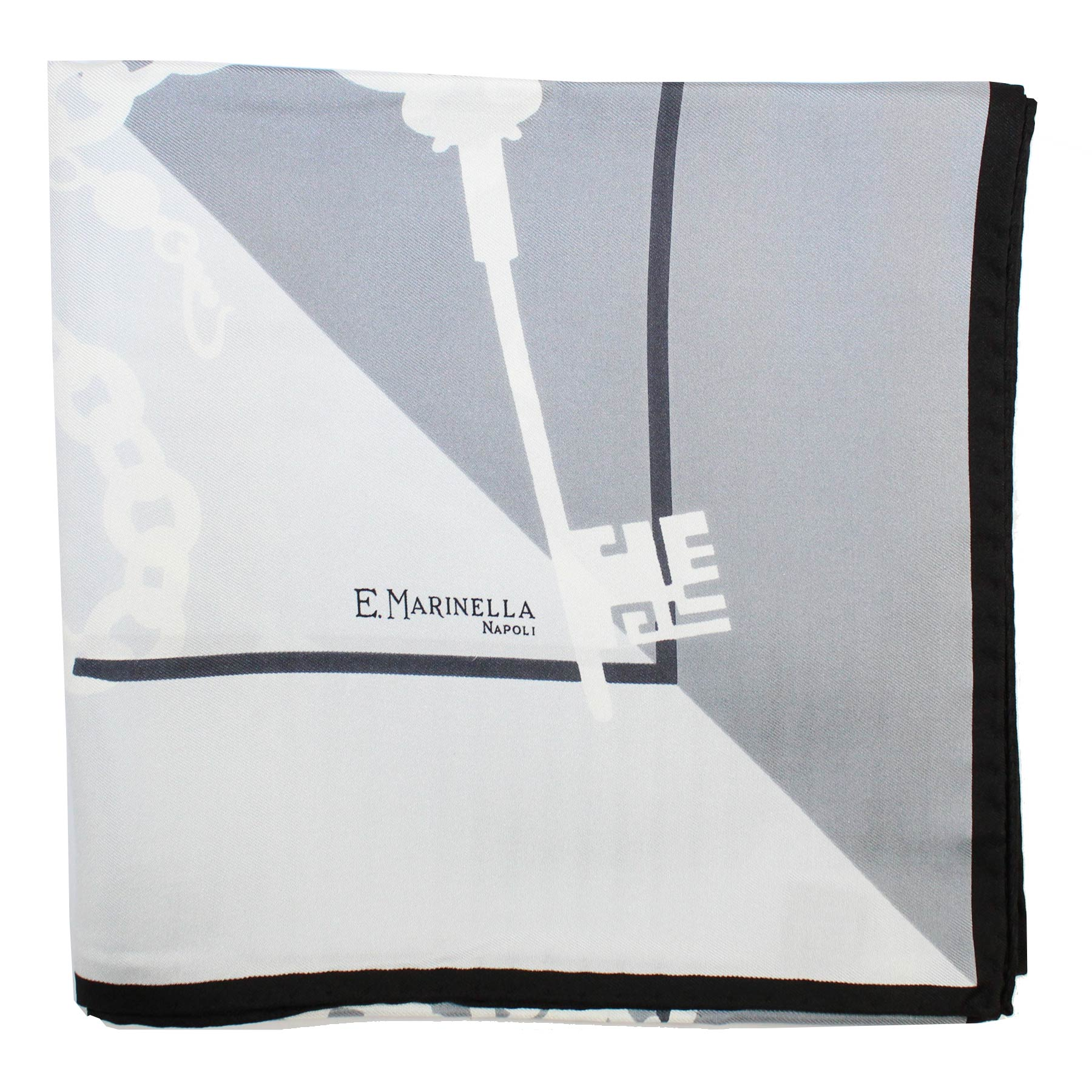 Marinella Scarf Gray Key Design