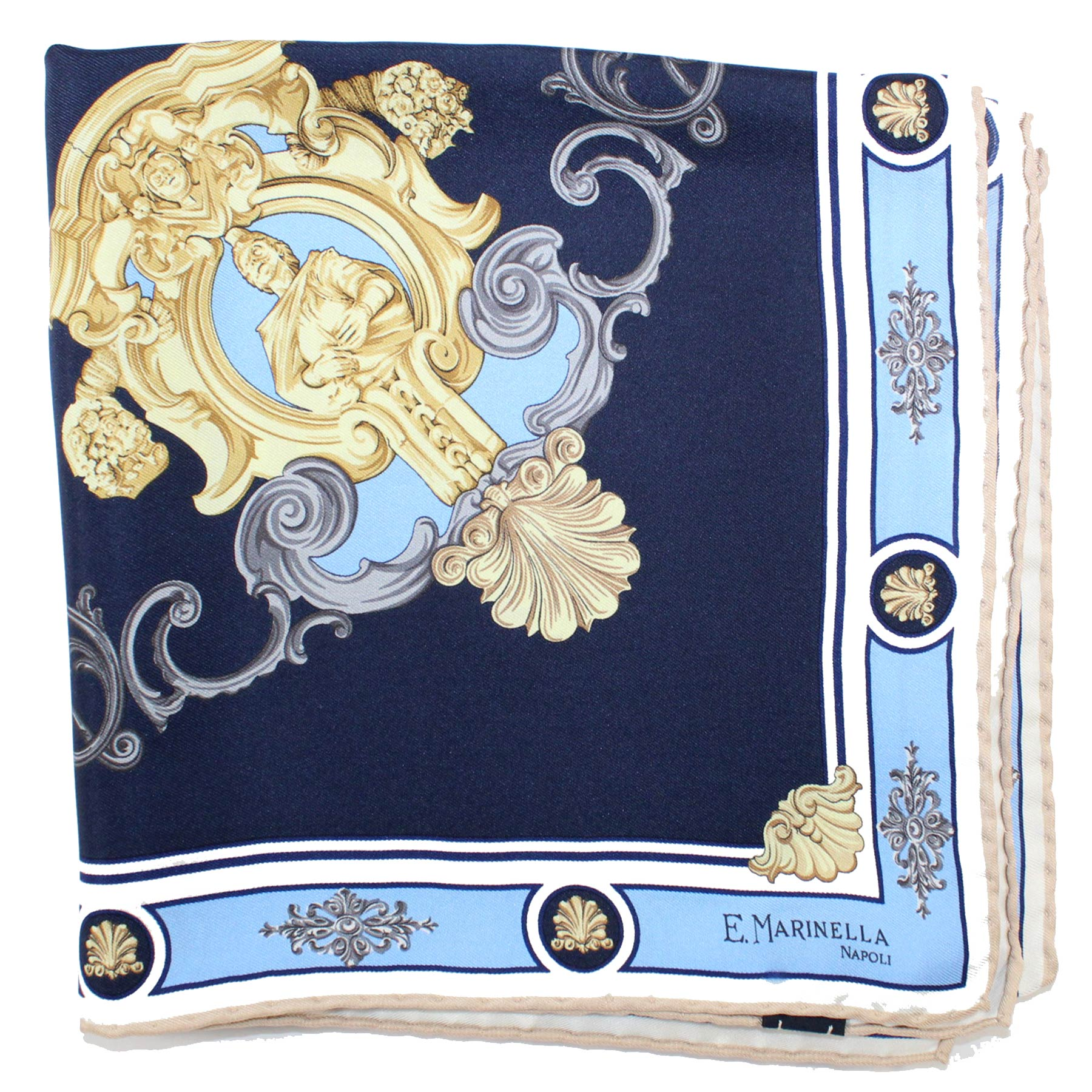Marinella Scarf Blue Design